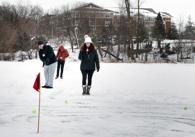 Playing Ice Golf At Chart House