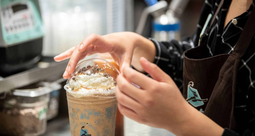 Coffee from Caribou Coffee
