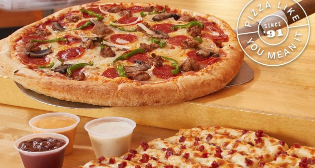 Pizza From Toppers Pizza