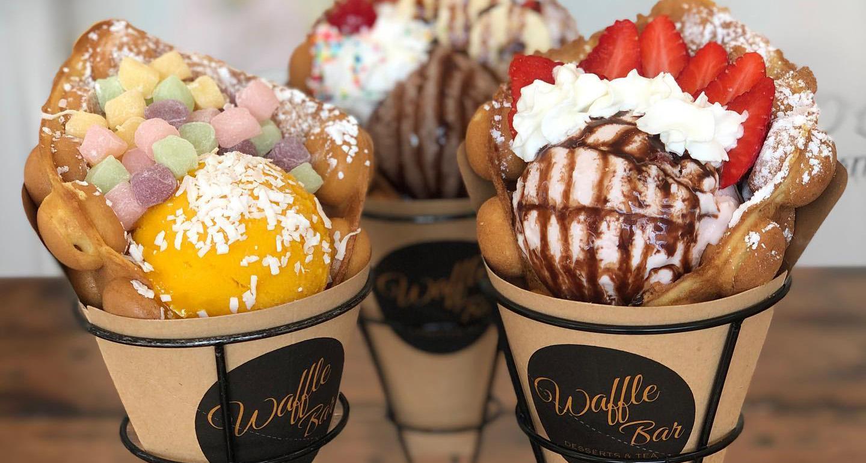 Food From Waffle Bar Ice Cream