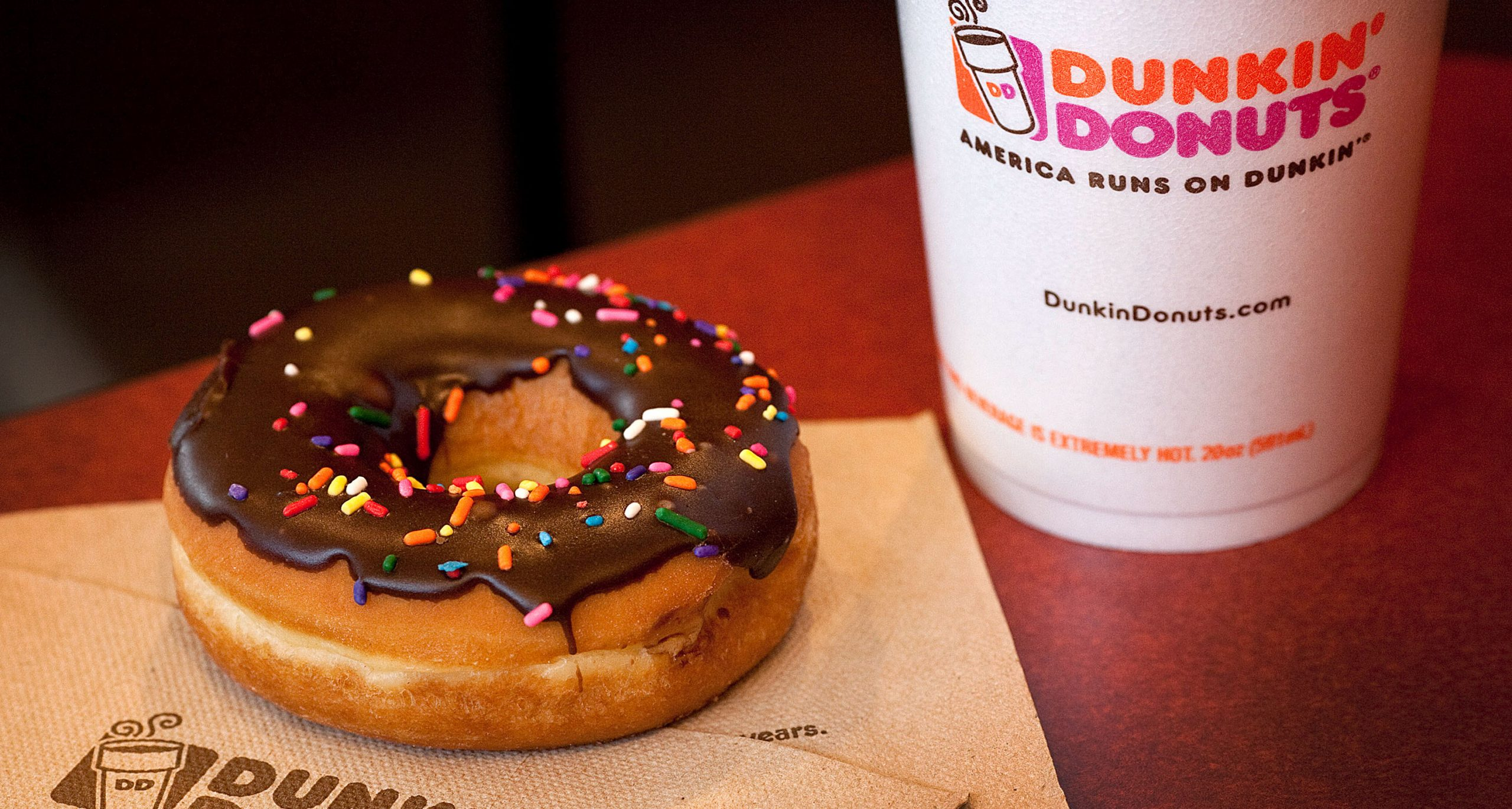 Coffee and Donut from Dunkin' Donuts