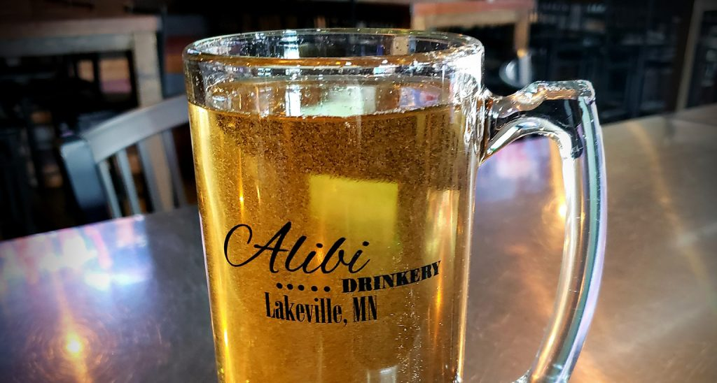 Beer from Alibi Drinkery