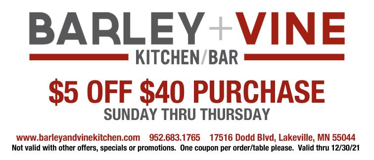 Barley+Vine Kitchen/Bar Coupon