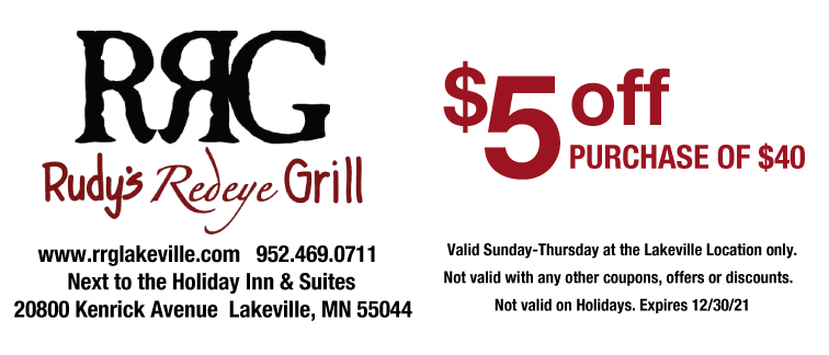 Rudy's Redeye Grill Coupon